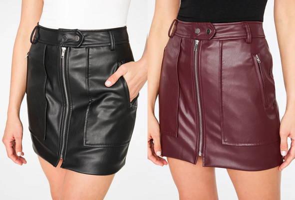 Faux Leather Biker Mini Skirt1