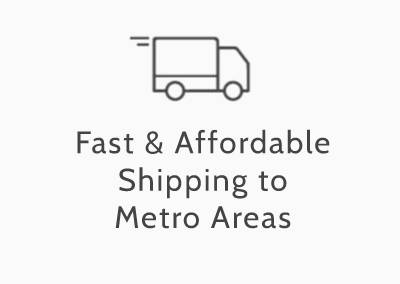 fast and affordable shipping to metro areas