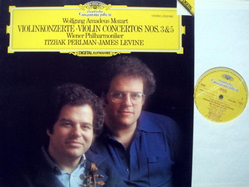 DG Digital / PERLMAN-LEVINE, - Mozart Violin Conerto No.3 & 5, NM!