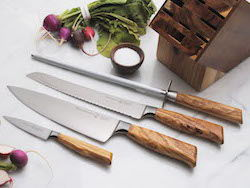 Messermeister Olive Elite Knife Set with Italian Olive Wood Handles