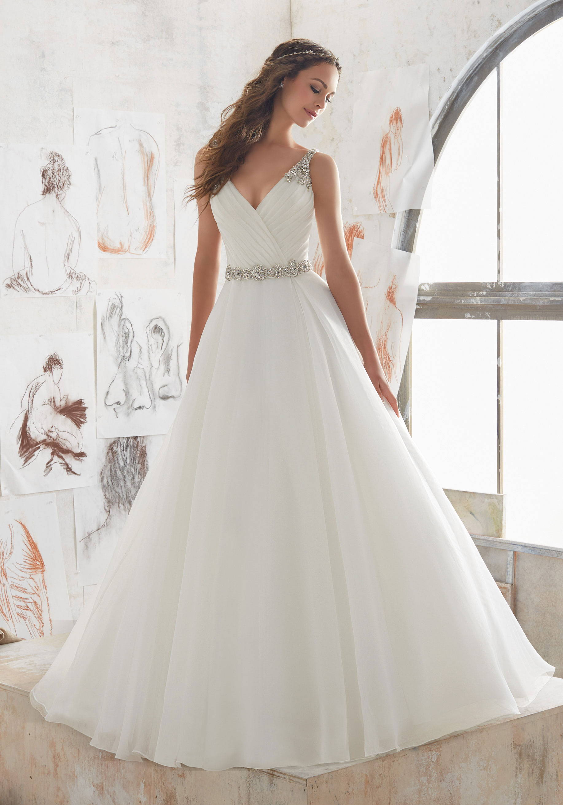 MORI LEE  WEDDING DRESS 5507