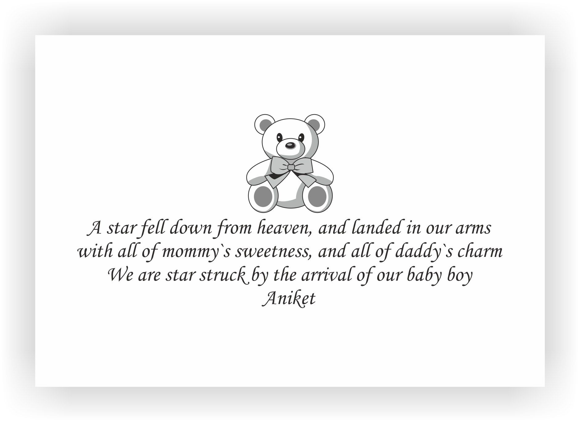 baby boy announcement message - 04