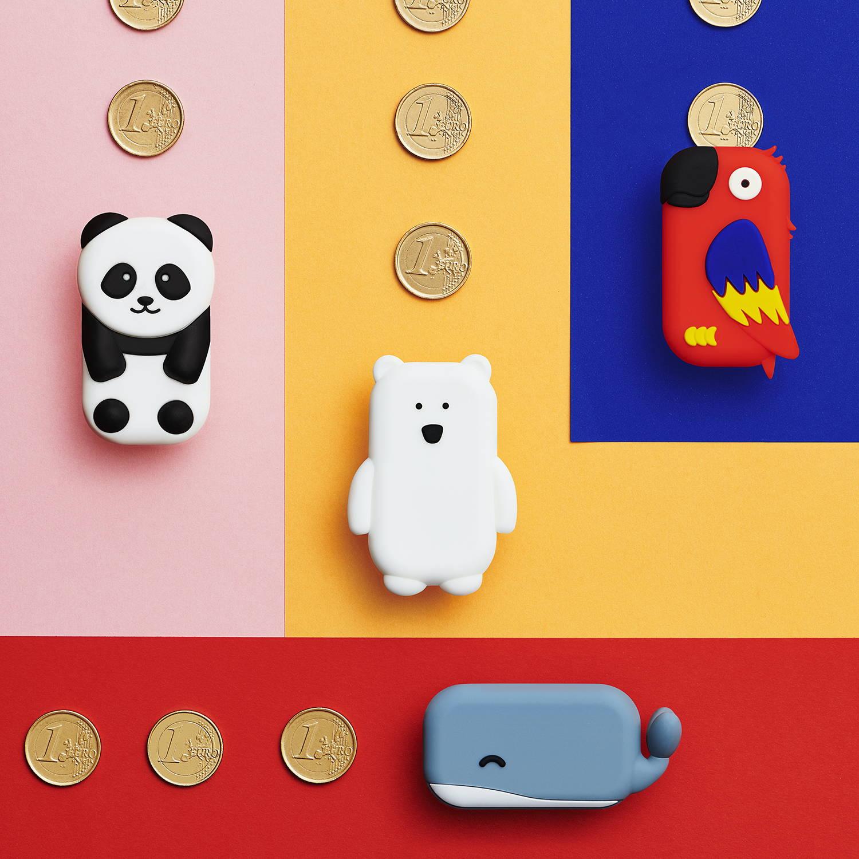 Walkies pièces de monnaie argent de poche
