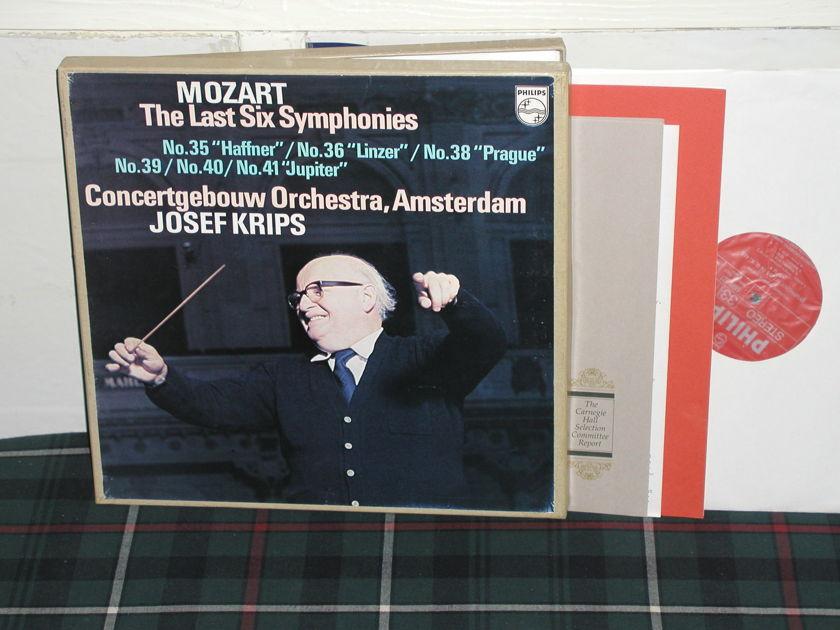 Krips/COA - Mozart Last 6 Symp Philips import  6998 3lp boxse