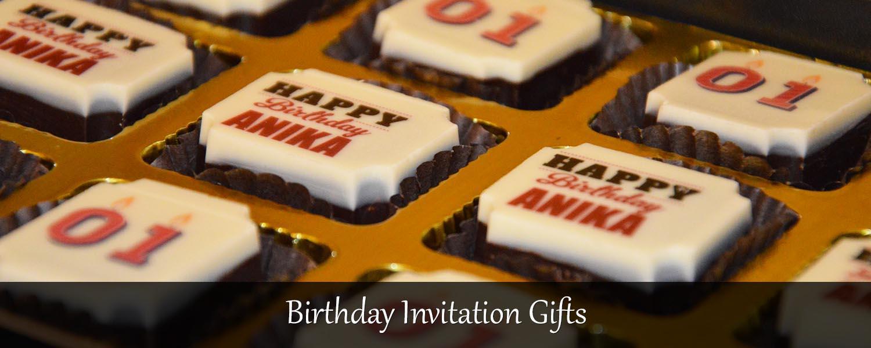 birthday invitation gifts