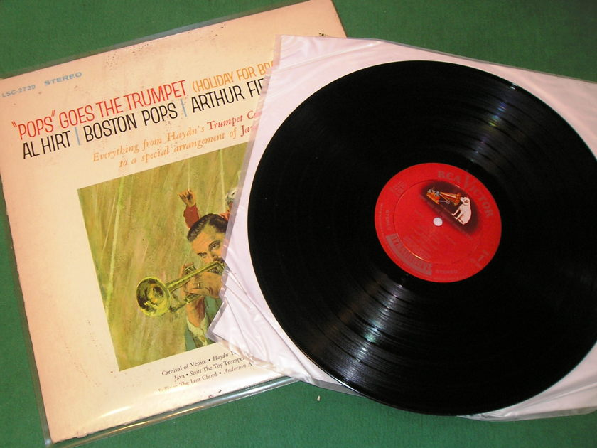 "AL HIRT - ARTHUR FIEDLER  ""POPS"" GOES THE TRUMPET - * 1964 RCA SHADED DOG B2/A2 PRESS * NM 9/10"