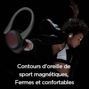 Amazfit Powerbuds - Contours d'oreille de sport magnétiques. Fermes et confortables, adaptés à l'exercice