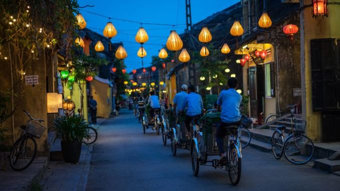 Motoring through the streets of Hoi An