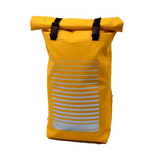 Желтый рюкзак  со скруткой / Yellow roll top backpack