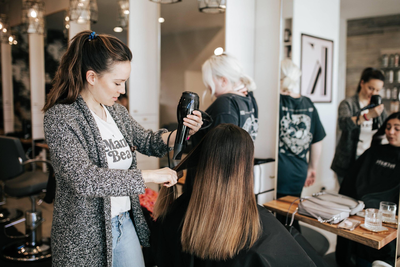 Kenna Kunijo Davines salon stylist work
