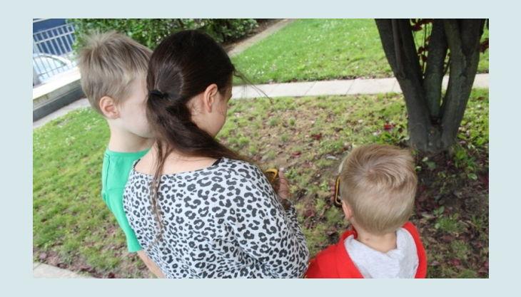 geocaching im kölner stadtwald kinder mit gps geräten