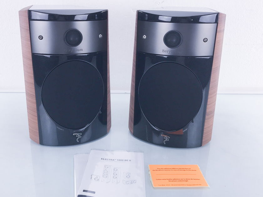 Focal  Electra 1008 Be II  Bookshelf Speakers; Pair; Dogato Walnut (3033)