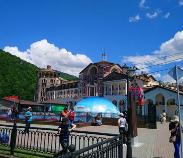 Сочи Олимпийский. Красная Поляна, Олимпийский парк, шоу фонтанов