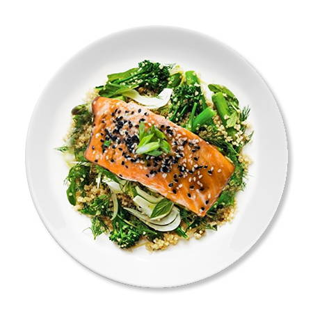 Paleo Salmon on Plate
