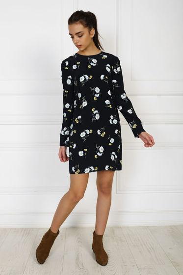 Прямое платье в цветочный принт