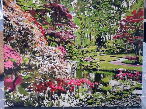 Peinture numérotée client d'un paysage de parc