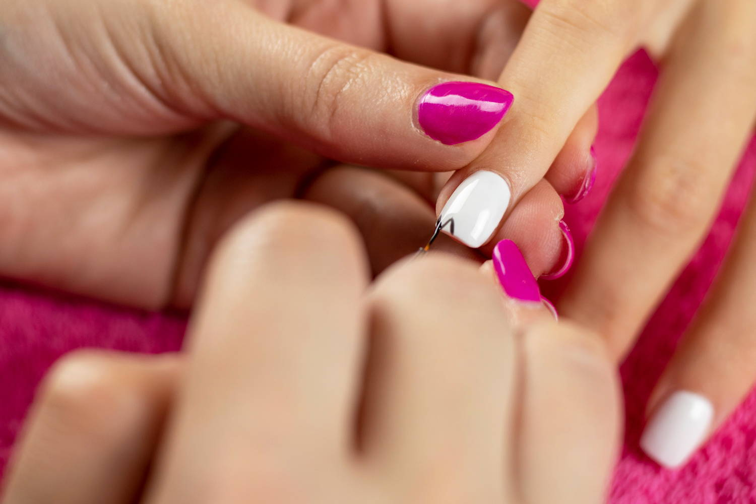 Ghost nail art detail being added to a nail using ORLY Liquid Vinyl