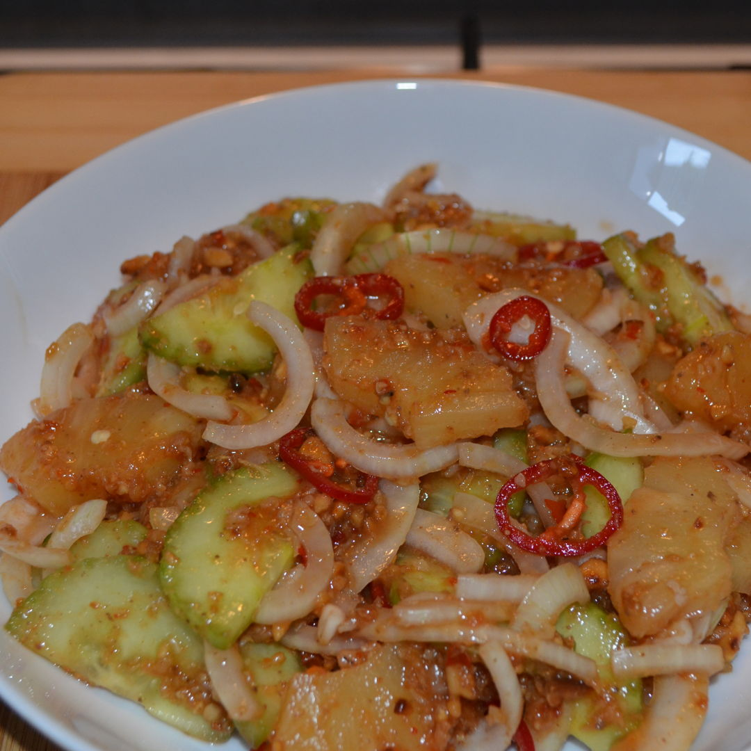 Date: 21 Jan 2020 (Tue) 6th Side: Jelatah (Cucumber-pineapple Salad) Remake of 30 Sep 2019 (Mon) [Today's Score: 10.0]  Cuisine: Malaysian Dish Type: Side