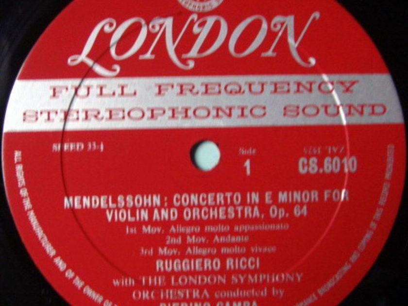 ★1st Press★ LONDON-DECCA FFSS-WB-BB / RUGGIERO RICCI, - Mendelssohn-Bruch Violin Concertos, EX!