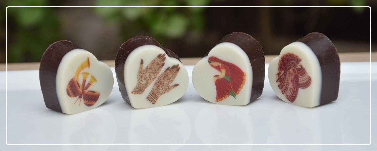 wedding symbol printed chocolates for your guests