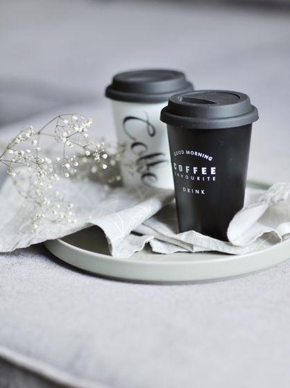 Металлические стаканы с силиконовой крышкой для кофе