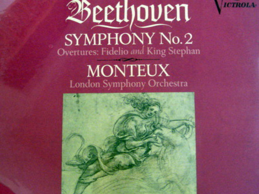 ★Sealed★ RCA Victrola / MONTEUX, - Beethoven Symphony No.2, Original!