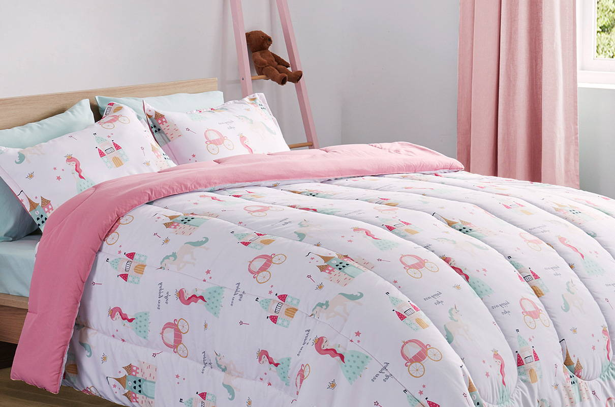 sleep zone bedding website store products collections pillow pillowcase kid's bedding girl pink white cartoon