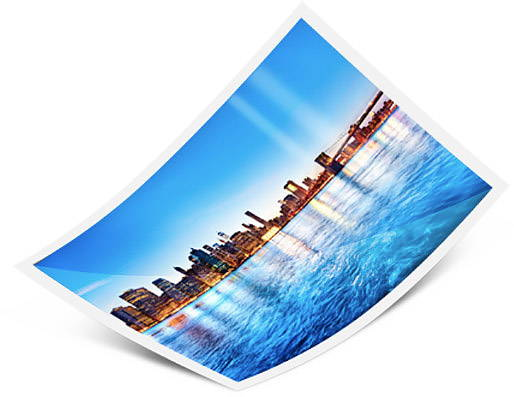 Glossy photo paper for glossy acrylic prints