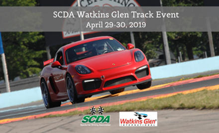 SCDA- Watkins Glen- 2 Day Track Event- April 29-30