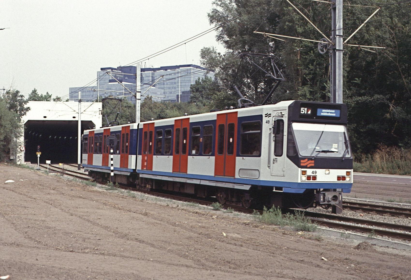 19910909a_Sneltram_Amsterdam_Zuid