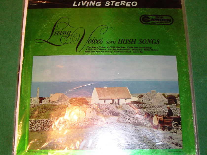 IRISH SONGS - LIVING VOICES - RCA LIVING STEREO CAMDEN LABEL * 9/10 *