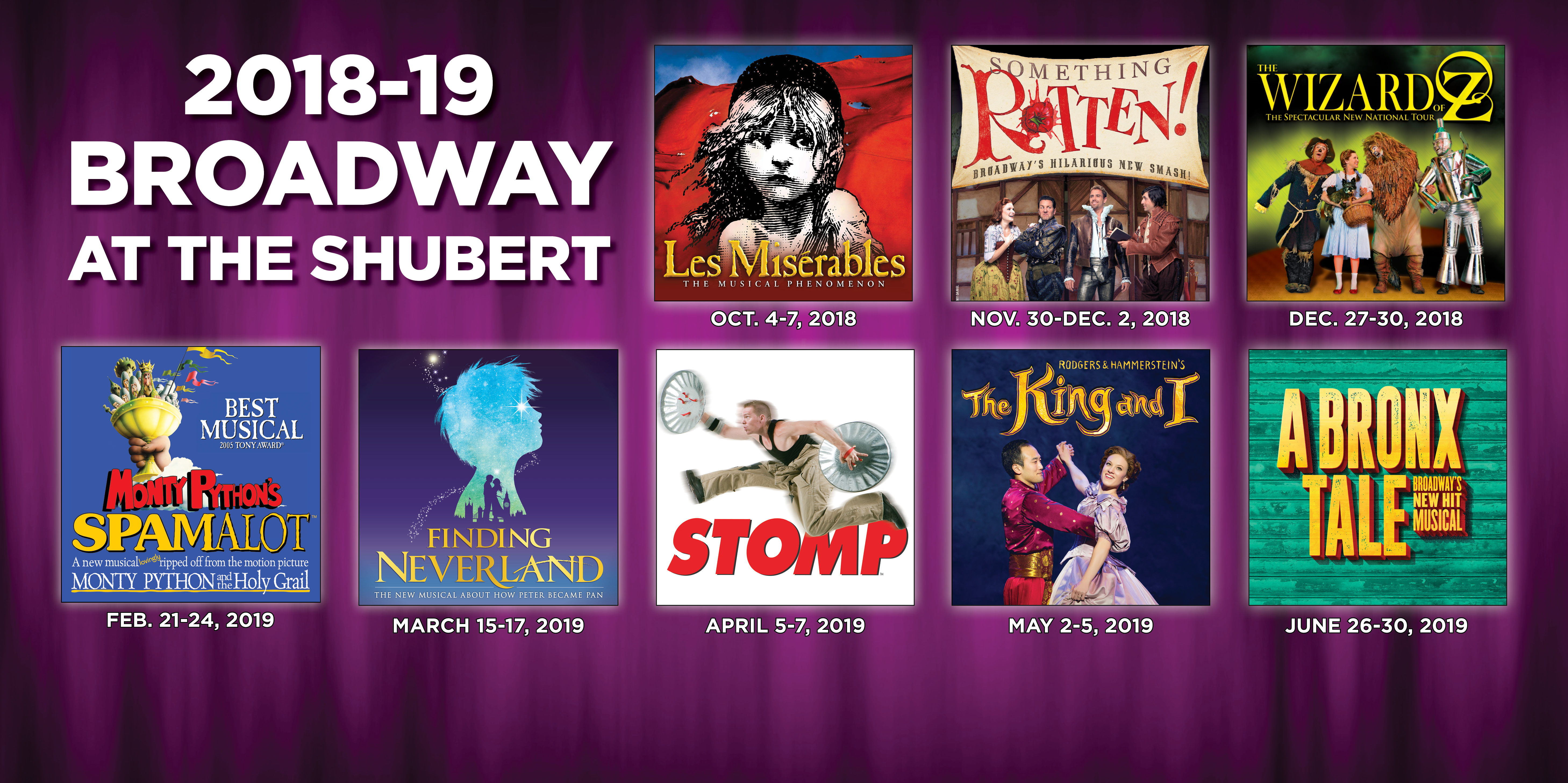 ANNOUNCING THE 2018-2019 BROADWAY SERIES!