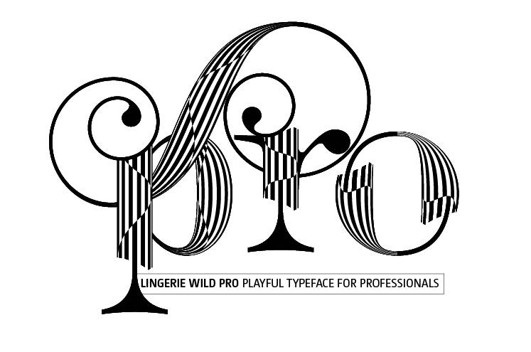 Lingerie WILD PRO TYPEFACE - Professional font for professional graphic designer
