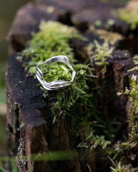 """Серебряное кольцо """"Волна"""""""