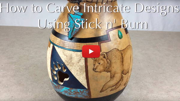 Watch Video #4- How to Carve Intricate Designs Using Stick 'n Burn