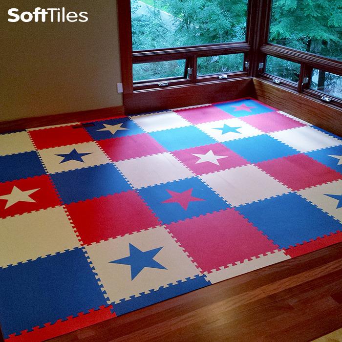 Floor Puzzle Mat Patriotic Mat Softtiles