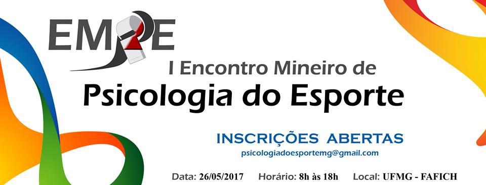 I ENCONTRO MINEIRO DE PSICOLOGIA DO ESPORTE