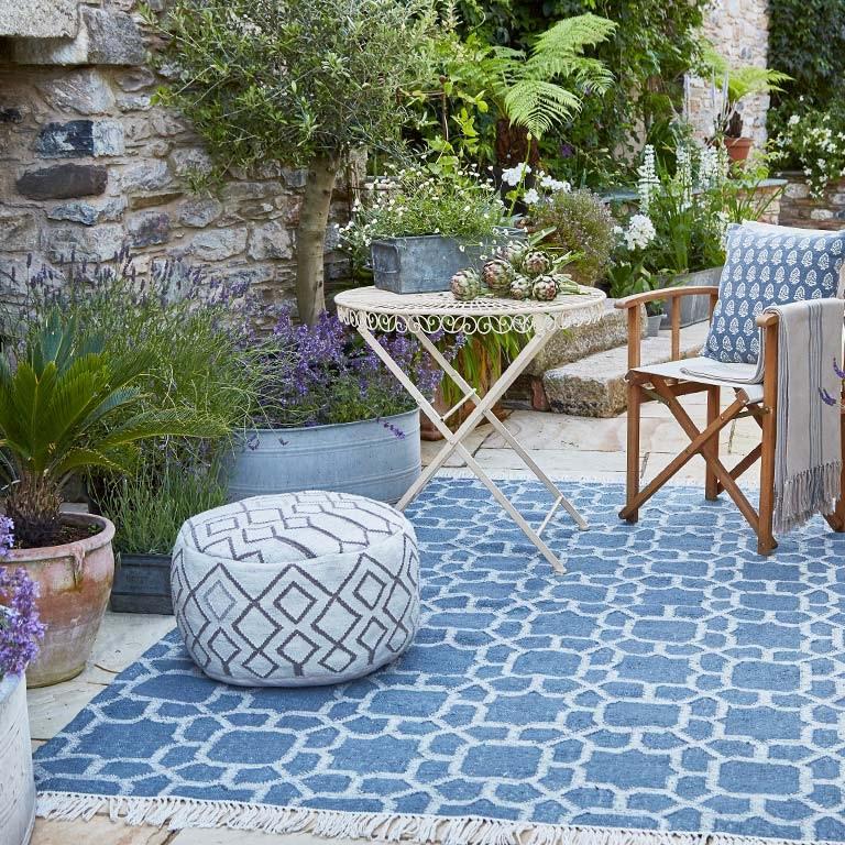 Kasbah ink rug outdoor blue moroccan rug
