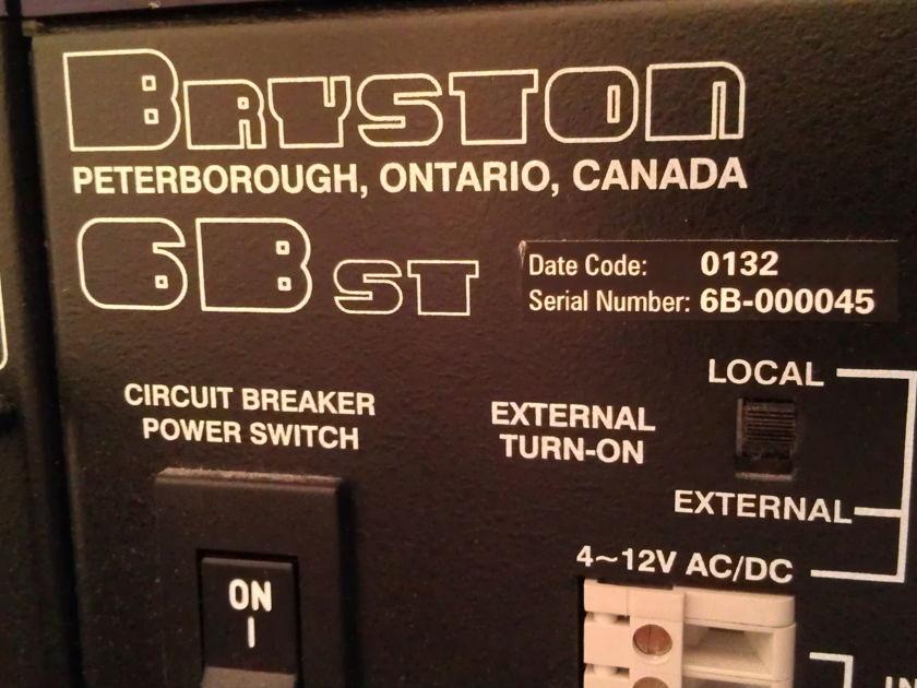 Bryston 6B ST 3 Channel Amp Black