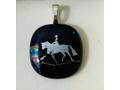 Glitzy Glass Horse Pendant