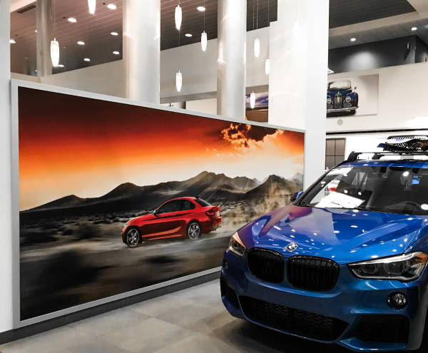 Interior Vinyl Wall Wrap -  BMW Dealership Wrap