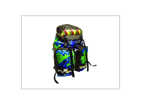 Prada   Nylon Printed Backpack