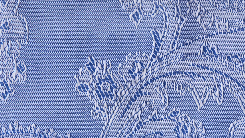 Fór med paisley mønster i blå I TailorMate