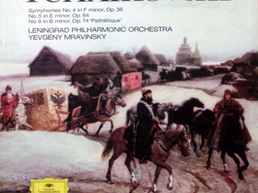 DG / Tchaikovsky Symphony No.4~6, - MRAVINSKY/LPO, MINT, 4LP Box Set!