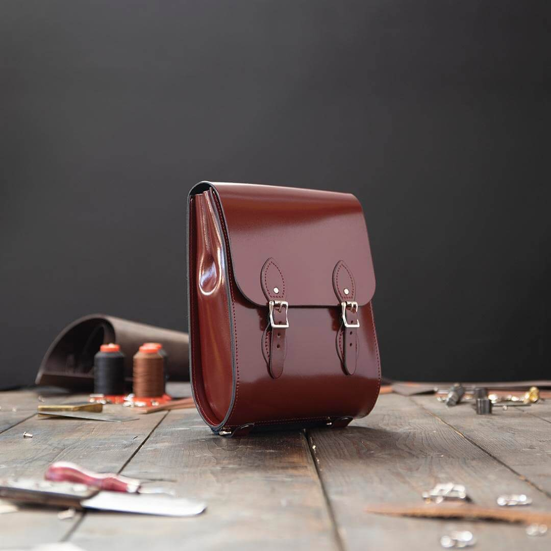 Red Mini Leather Backpack