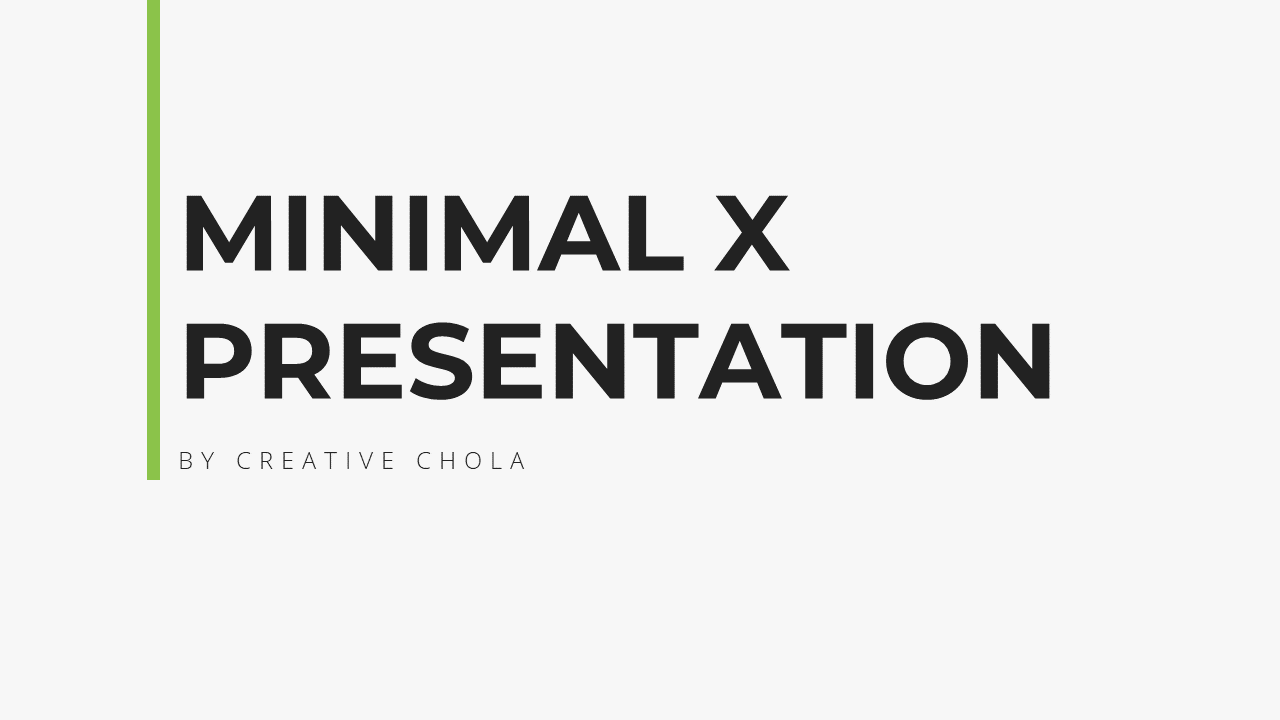 Minimal X Sales Deck Presentation Template Title