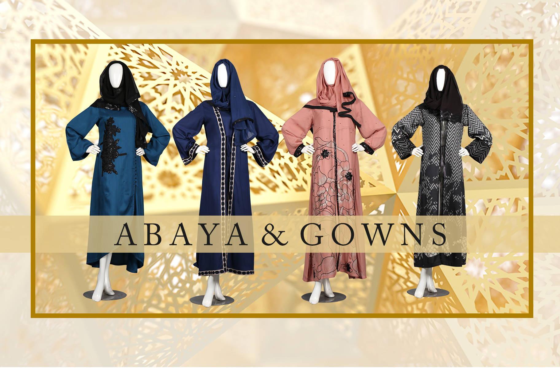 abaya, gowns, hijab fashion