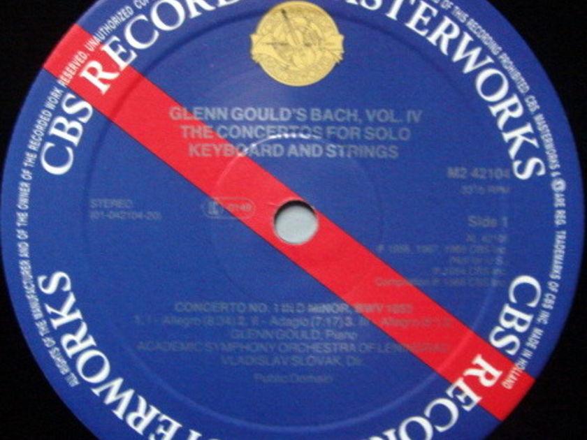 CBS Digital / GLENN GOULD, - Bach Vol.4 Concertos for Keyboard & Strings, MINT, 2 LP Set!