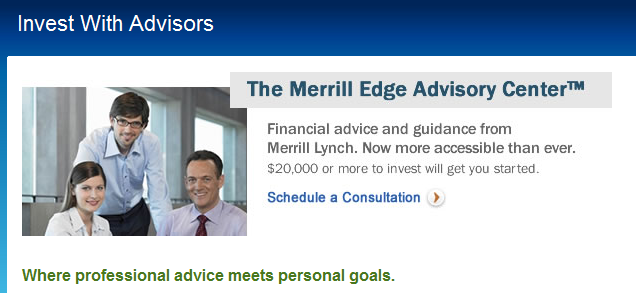 On the Merrill Edge website, it says that 'financial advisors are now more accessible than ever.'