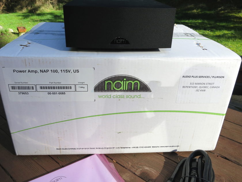 Naim Audio 50 Watt Two Channel Stereo Amplifier NAP100 Complete in Box NAP 100 Perfect PRICE DROP 03/28